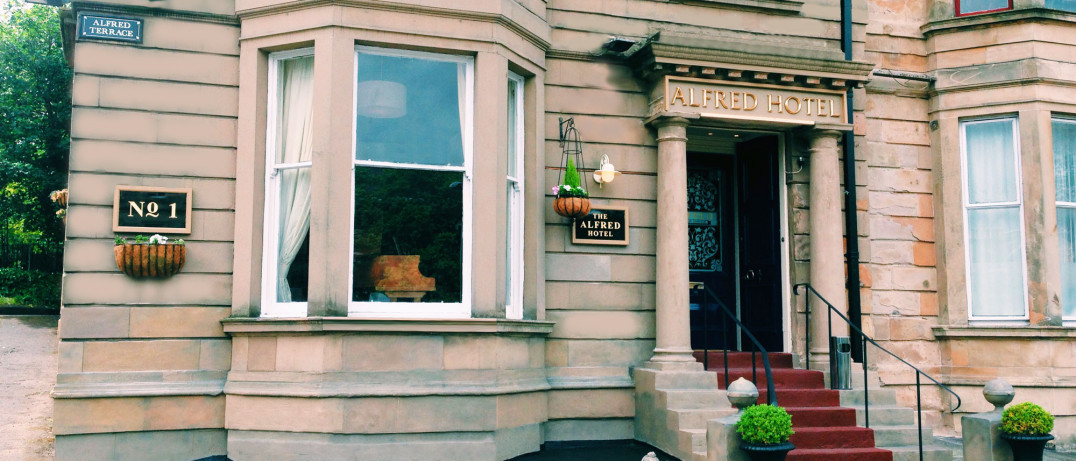 The Alfred, Hotel located in Glasgow's West End. Near Byres Road.